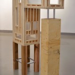 Cassandra Ferguson, Structure YL-W15 #75, 2014. Plywood, spruce, cedar, galvanized steel, latex interior house paint.