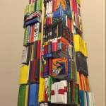 Jin Lu, The Book Tower (Detail), 2014. Wood and Paper.