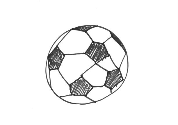 How to Draw a Soccer Ball – A Project by Micah Lexier for