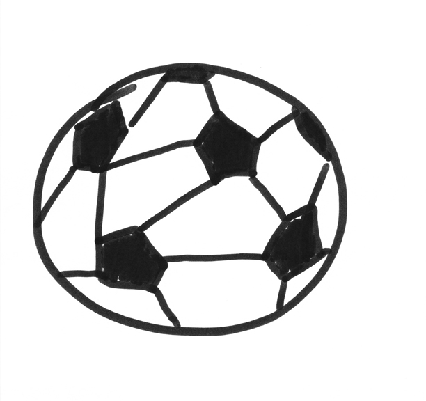 how to draw a soccer ball a project by micah lexier for the inc